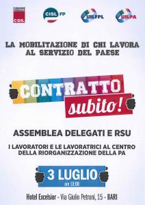 Assemblea a Bari per delegati e RSU