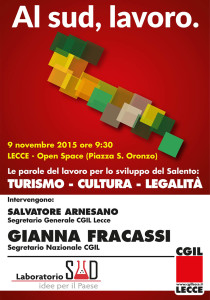 Le parole del lavoro per il futuro del Salento: importante iniziativa il 9 novembre