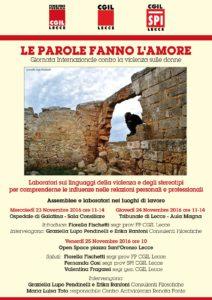 La Funzione Pubblica Cgil Lecce contro la violenza alle donne