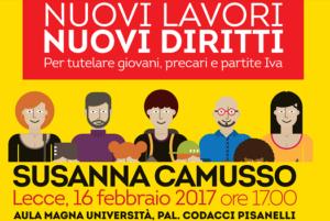 """Susanna Camusso a Lecce 16 feb- """"NUOVI LAVORI NUOVI DIRITTI"""""""