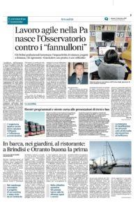 REPLICA all'articolo del 17/11/2020 sul Nuovo Quotidiano di Puglia